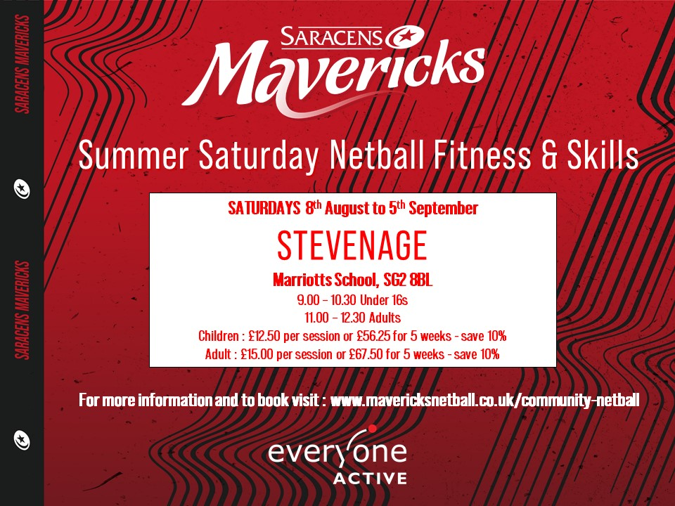 Summer Netball Activities Flyer 2