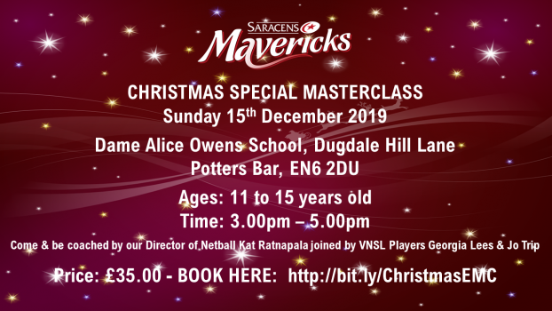 JOIN US FOR A CHRISTMAS SPECIAL MASTERCLASS